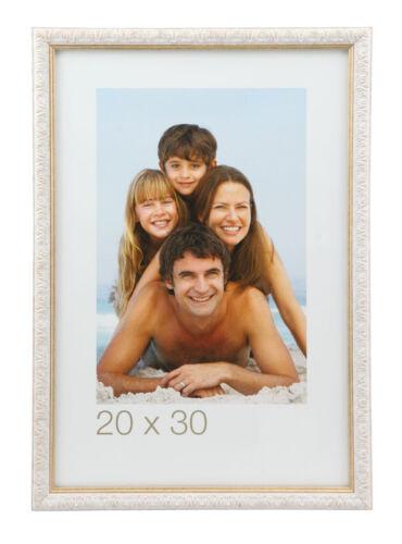 Ornament Bilderrahmen 9x13 cm bis 30x40 cm Gold Silber Weiß Bilder Foto Rahmen