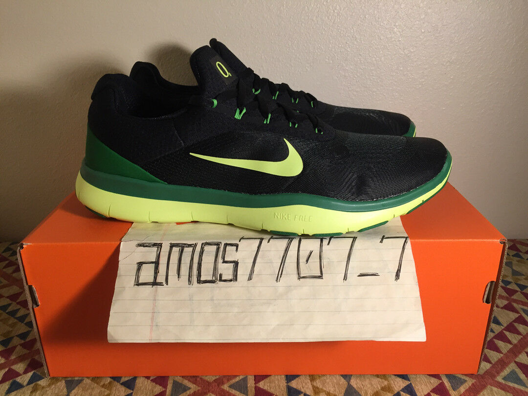Great discount Nike Free Trainer V7 SG Oregon Ducks Black Green 898049 301 DS Comfortable