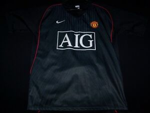 33d2ca0f0 Image is loading Manchester-United-Soccer-Jersey-FC-Football-Club-AIG-