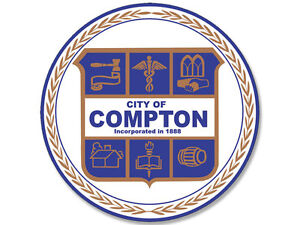 4x4-inch-Round-COMPTON-City-Seal-Sticker-decal-logo-california-bumper-window