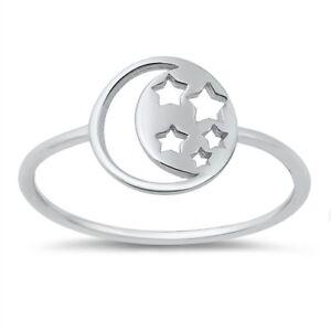 Sterling Silver 925 PRETTY CROSS SILVER RINGS SIZES 4-10