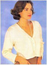 Ladies' DK Sailor Collar Short Jacket with Pocket Knitting Pattern 10142