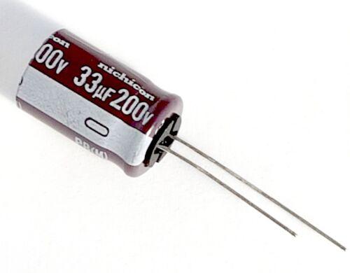 200v Nichicon 33uF 2pcs JAPAN 105°C Capacitor – ref:844 PB