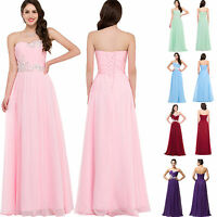 Sexy Chiffon Evening Formal Party Cocktail Long Dress Bridesmaid Prom Ball Gowns