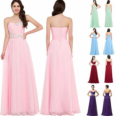 2018 SALE Long Masquerade Maxi Formal Party Gown Prom Bridesmaid Evening Dresses