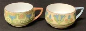 2 Antique Rosenthal Donatello Demitasse/Espresso cups arts & crafts Selb Bavaria