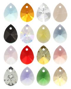 Genuine-SWAROVSKI-6128-XILION-Mini-Pear-Crystals-Pendants-Many-Sizes-amp-Colors