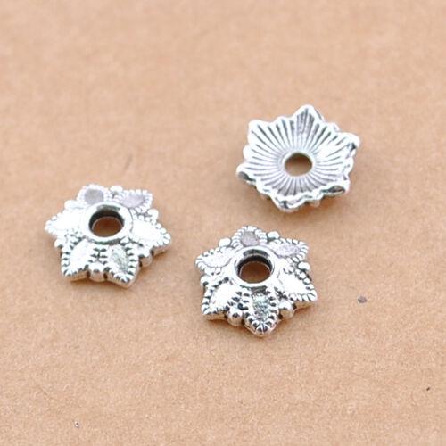 4.5 mm Hole DZ145 según se elección 30//70 un Tapa De Plata Tibetana espaciador granos flojos 12x9mm