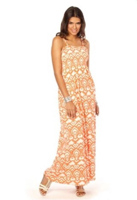 Womens  Maxi Dress By Yourstyle Shirred Coral Size 10 Beach Summer Holidays