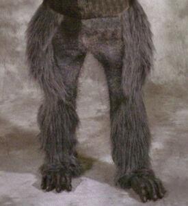 Image is loading Beast-Legs-&-Feet-Gray-Wolf-Hairy-Werewolf- & Beast Legs u0026 Feet Gray Wolf Hairy Werewolf Animal Adult Latex ...