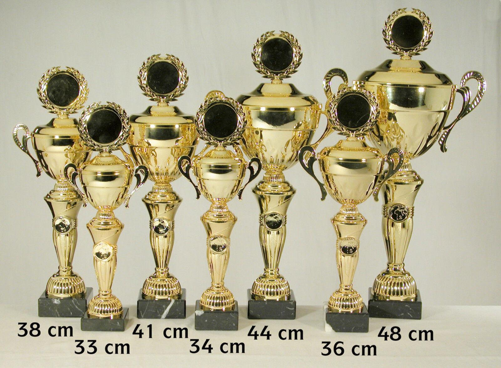 Pokal 1605 7er 7er 7er Serie oder Einzeln mit 50mm Emblem und Beschriftung Goldfarben ca4bbd