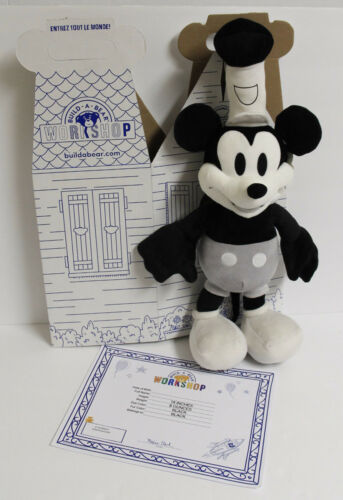 Build-A-Bear Disney 90th Anniversary Steamboat Mickey Mouse Limited Plush NWT