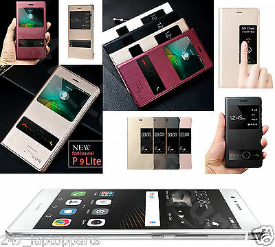 HUAWEI P9 LITE Smart Flip Window S View AutoSleep Case Cover Stand New