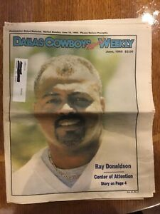 Dallas-Cowboys-Official-Weekly-June-1995-Ray-Donaldson-Center-of-Attention