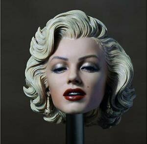 "Star Marilyn Monroe 1//6 Female Head Sculpt For 12/"" Phicen TBleague Figure Body"