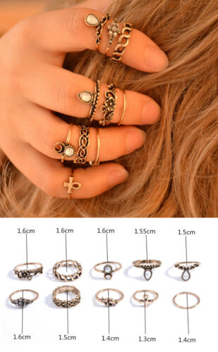 SET Midi Finger Above Knuckle Womens Stacking Fashion Rings