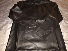 Adidas Y-3 By Yohji Yamamoto Mens Black Leather Hoodie Size L