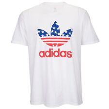 Adidas Originals All American White Red Blue T-shirt Men's Sz Medium Graphic Tee