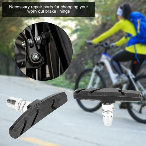 1 Pair Bicycle Break Shoes Brake Pads Holder Rubber Mountain Bike Bicycling /_sh
