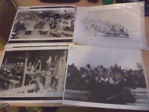 4 X OLD VINTAGE ANTIQUE RP LARGE PHOTOS PHOTOGRAPH JEWISH HISTORY typhus history
