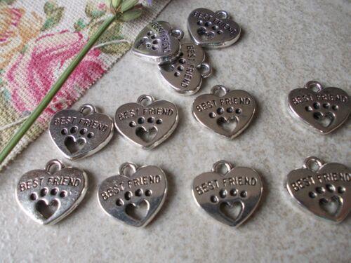 10 X Pata de Perro mejor amigo de Plata Tibetana Dijes De Metal fabricación de joyas Colgante