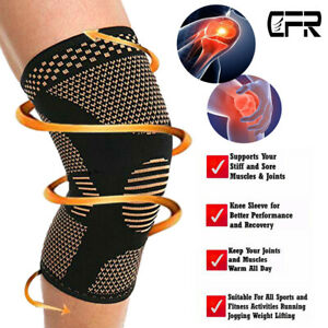 Copper-Compression-Knee-Support-Brace-Shin-Sport-Pain-Arthritis-Relief-Sleeve