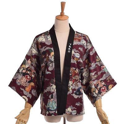 "/""Hyakki Yakou/"" Women Japanese Kimono Jacket Darkness Lolita Loose Trench Outwear"