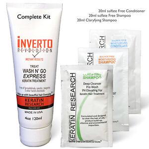 Inverto-Express-Keratin-Hair-Treatment-Wash-N-Go-USA-4oz-Formalin-Free-with-CS