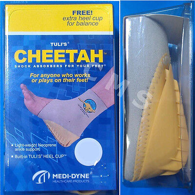 MEDI-DYNE TULI'S CHEETAH Fitted Neoprene Sport Ankle Support W/ Heel Cup USA Pro
