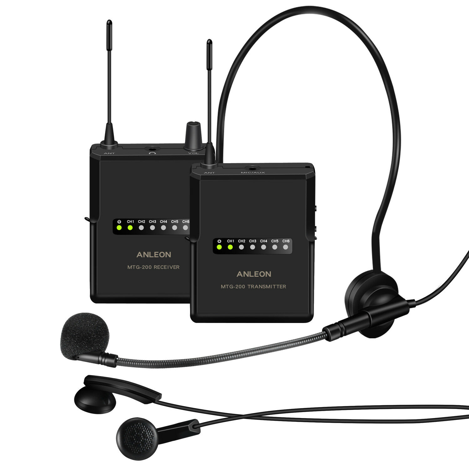 ANLEON MTG200 Wireless Tour Guide System Translation System Headsets