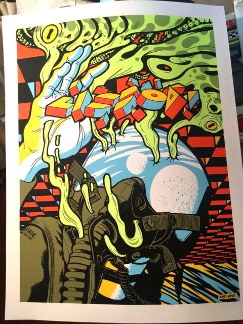 🔥 Pearl Jam Lisbon Poster 2018 Tour Show Edition Screen Print Ames Bros Lisboa