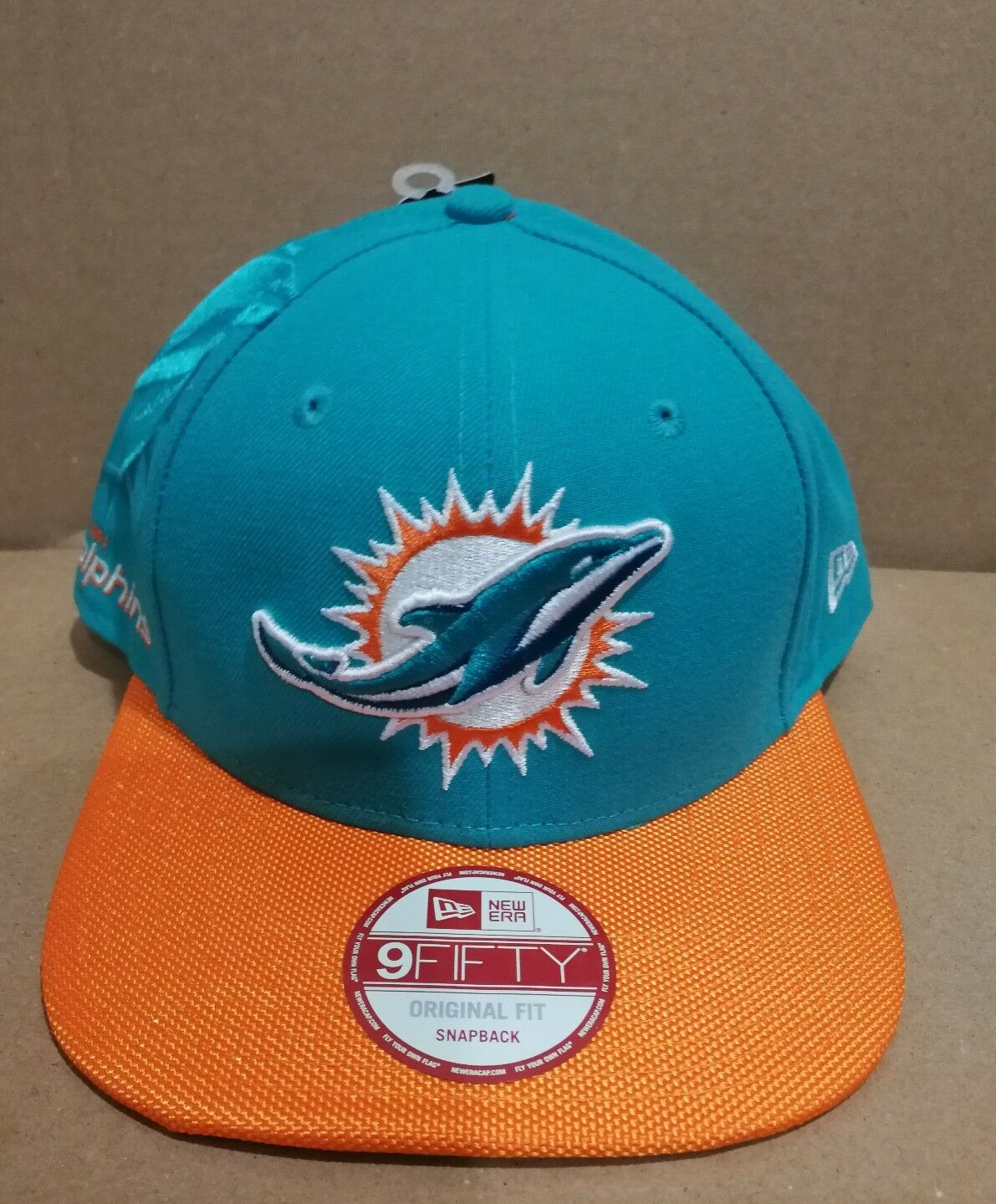 New Era Miami Dolphins 9Fifty Snapback Authentic Authentic Authentic Hat Cap NFL f0ae38