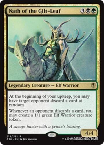 NATH OF THE GILT-LEAF Commander 2016 MTG Gold Creature — Elf Warrior Rare