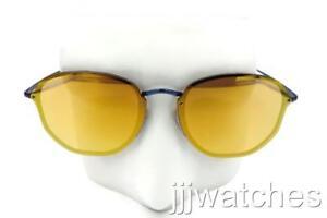 a0fe1f5788b New Ray-Ban Blaze Hexagonal Blue Dark Orange Mirror Sunglasses ...