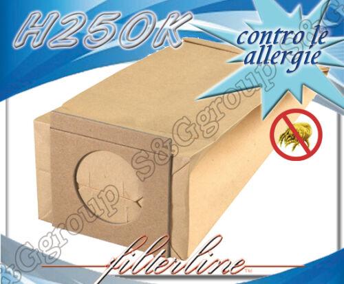 H250K 8 sacchetti filtro sacco in carta per aspirapolvere Hoover SB005
