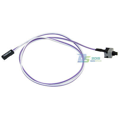 PC Power ATX Wire Motherboard Switch Power Cable On/Off Supply for Computer 65cm
