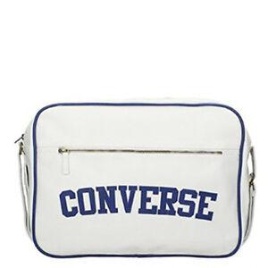 Image is loading Converse-Reporter-Heritage-PU-Bag-White 354c2ebc42b03