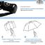 miniatura 5 - BOLERO OMBRELLI - Ombrello Portatile Pieghevole Antivento Automatico Pioggia
