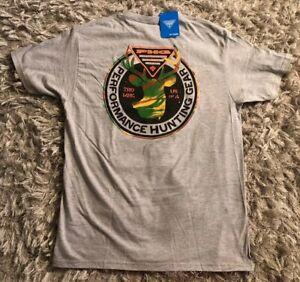 Columbia-PHG-Mens-X-Large-Hunting-T-Shirt-Deer-Camo-Logo-Gray-Nwt-New