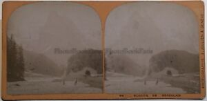 Suisse Ghiacciaio Da Rosenlaui Foto J.Jullien A Geneve Stereo Vintage Albumina