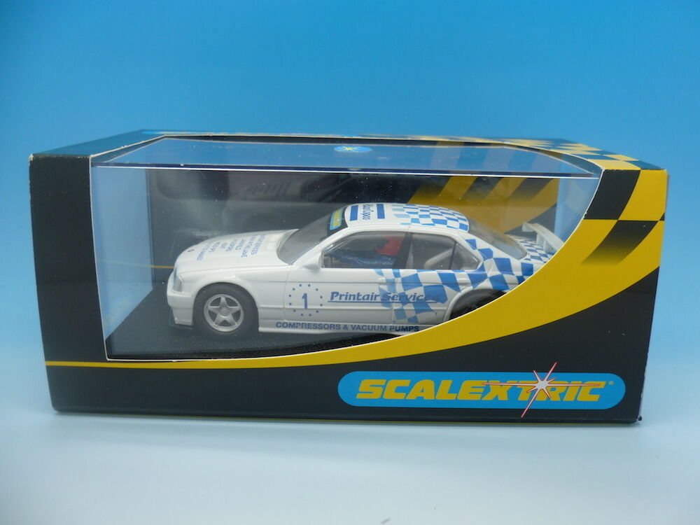 Scalextric Ultra Rare Printair BMW 320i, limited to only 75