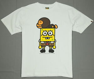 0f4077bb New Bape T-Shirt A Bathing Ape Tee SpongeBob x Baby Milo White Size ...
