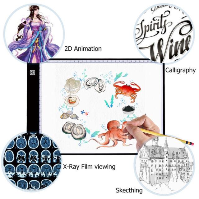 5D Diamond Painting LED Light A4 Board Drawing Sketch Stencil Light Tracing  Pad 2f91beeb2f14