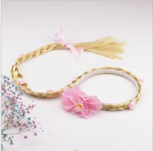 Rapunzel Girls Princess Wig Headband Hair Plait Kids Costume Accessory