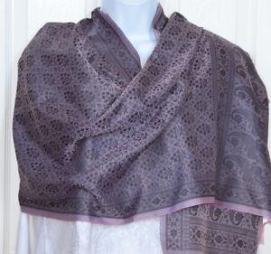 Banaras-Silk-Purple-Pink-Color-with-Black-Woven-Floral-Design-Shawl-Wrap-Stole