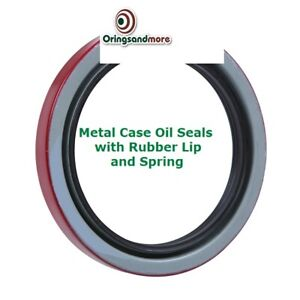 Oil and Grease Seal TC57.15x76.2x12.7 Rubber Covered Double Lip w//Garter Spring