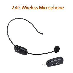 82035995306 NEW 2.4G Wireless Microphone Headset MIC Audio PC & 3.5mm Jack For ...