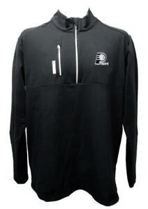 New Indiana Pacers Mens M-L-XL-2XL-3XL +2 Adidas Black Climalite 1/4 Zip Shirt