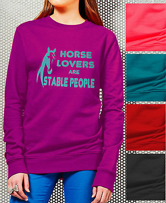 Equestrian HORSE Riding Adults FLEECE TOP JERSEY JUMPER  HORSE LOVERS