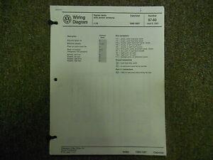 1983 1989 VW Cabriolet Power Antenna Main Wiring Diagram ...